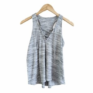 Hollister Ribbed Racerback Tie Up Tank Top XS